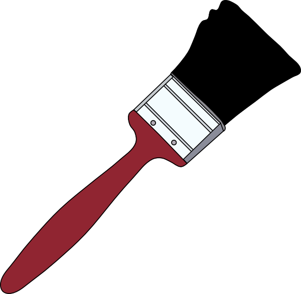 free vector Tom Red Paintbrush clip art