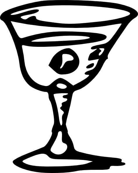 free vector Tom Wine Glass clip art