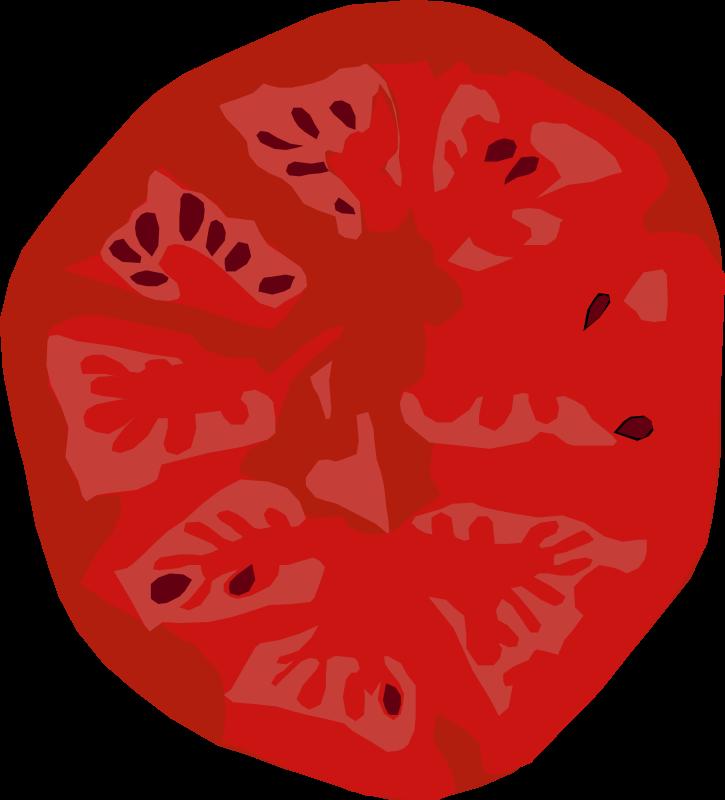 Tomato slice Free Vector / 4Vector