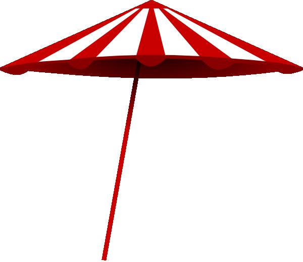 free vector Tomk Red White Umbrella clip art