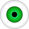 free vector Tonlima Olhos Verdes Green Eye clip art
