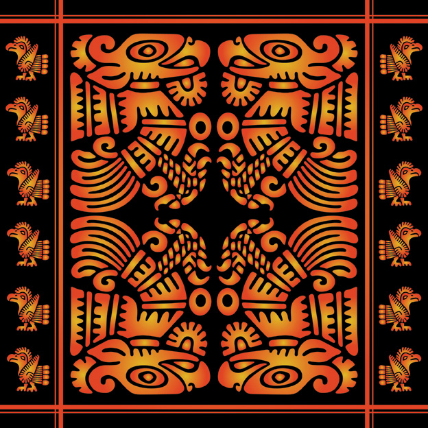 free vector Totem classical pattern vector