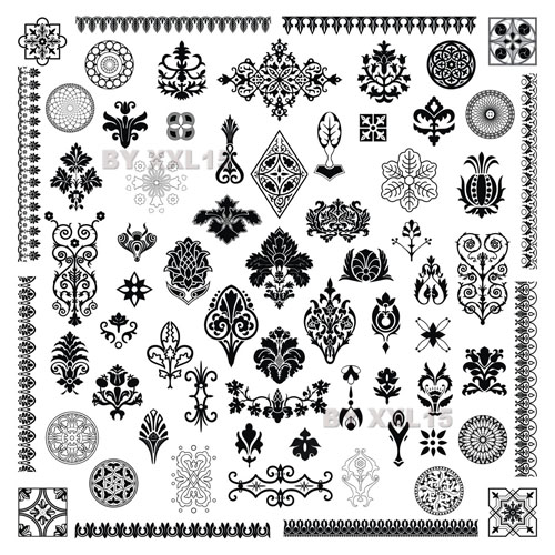 free vector Totem fine pattern vector