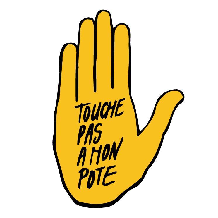 free vector Touche pas a mon pote 0