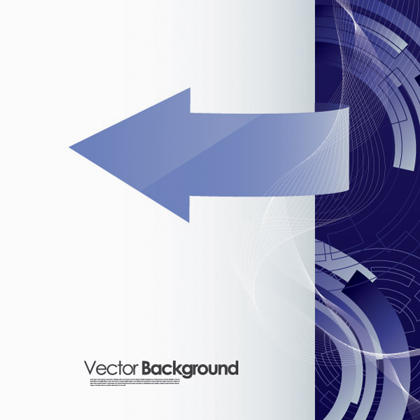 free vector Touched by a sense of science and technology background vector 2 arrow