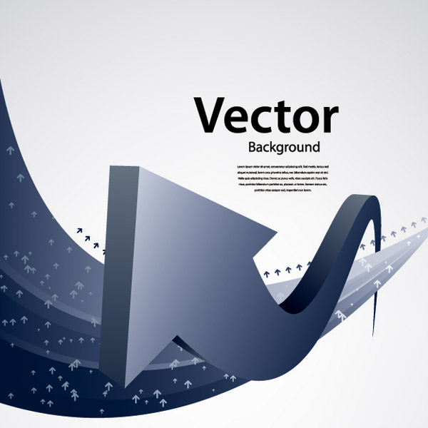 free vector Touched by a sense of the arrow vector technology background 1