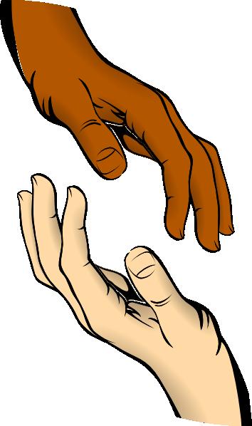 free vector Touching Hands clip art