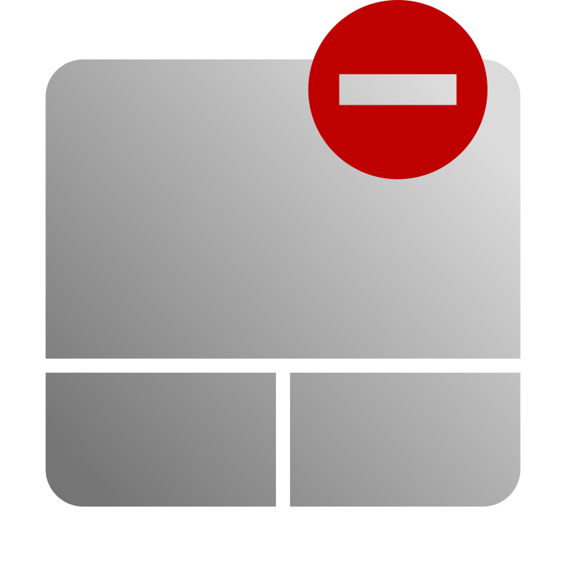 free vector Touchpad Disable Icon