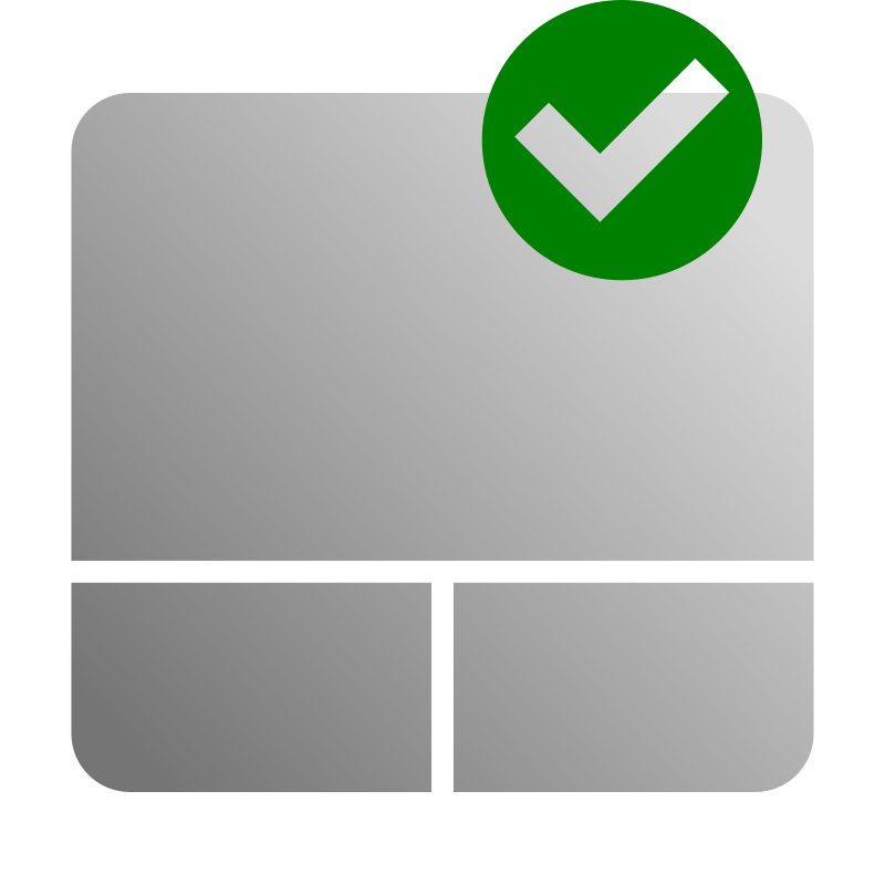 free vector Touchpad Enable Icon