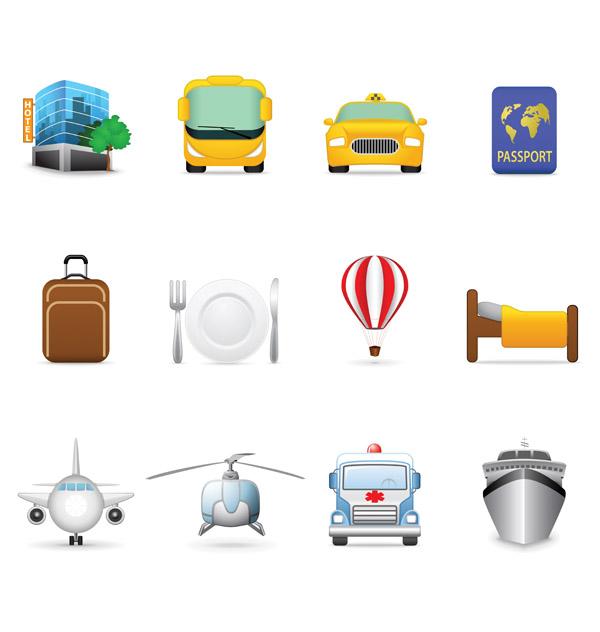 free vector Tourist theme icon vector