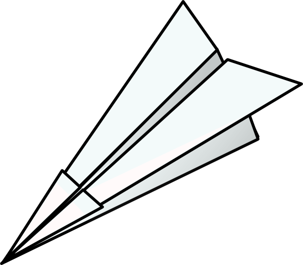 free vector Toy Paper Plane clip art