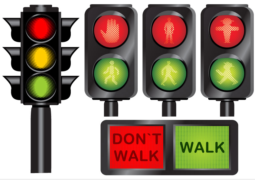 free vector Traffic light icon vector