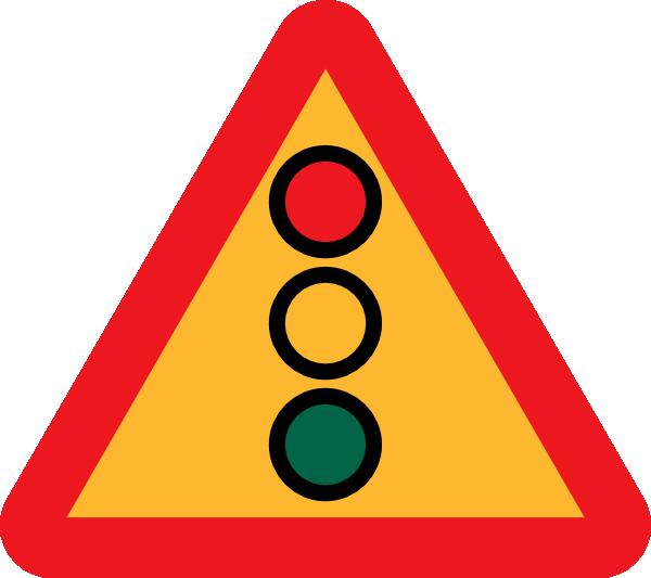 free vector Traffic Lights Ahead Sign clip art