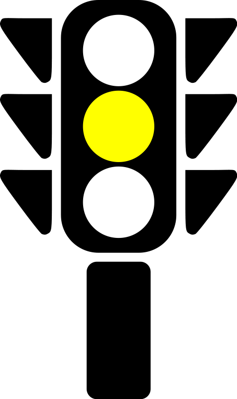 free vector Traffic semaphore yellow light