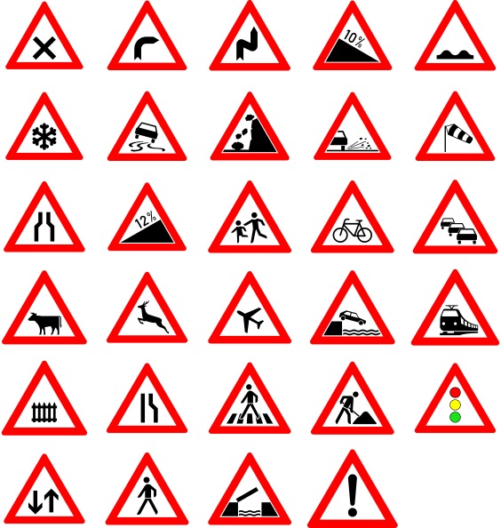 free vector Traffic Street Road Signs clip art