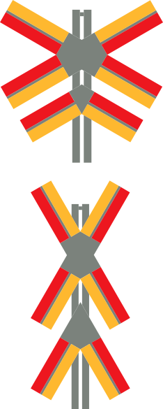 free vector Train Crossing Signals clip art