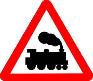 free vector Train Road Signs clip art