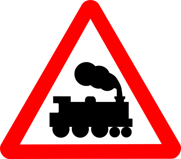 free vector Train Road Signs clip art