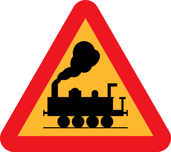 free vector Train Roadsign clip art