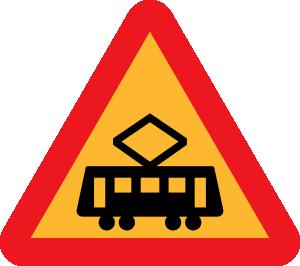 free vector Tram Roadsign clip art