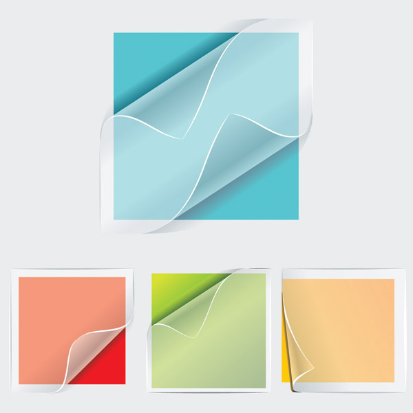 free vector Transparent stickers vector