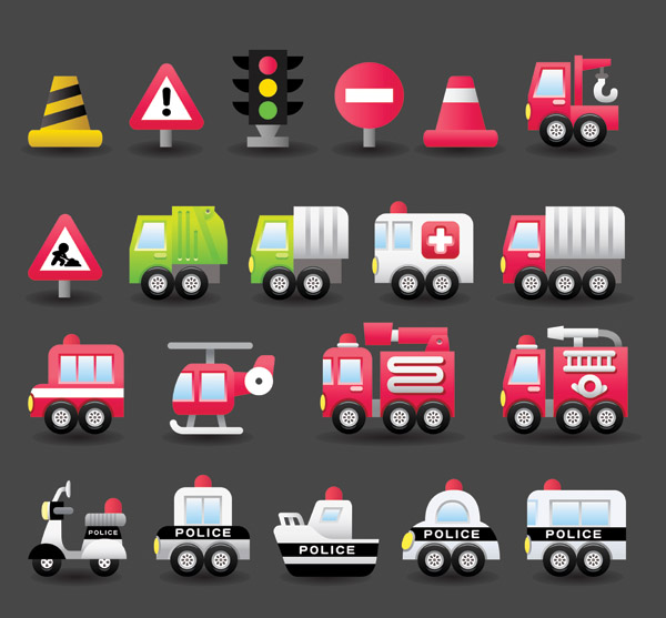 free vector Transport vector cute 4