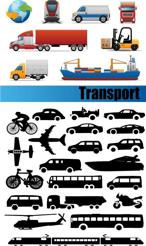 free vector Transport vector