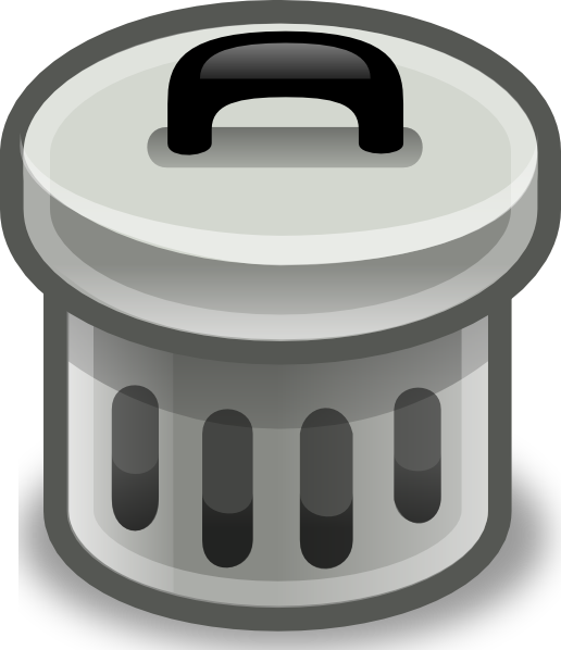 free vector Trash Can With Lid On clip art