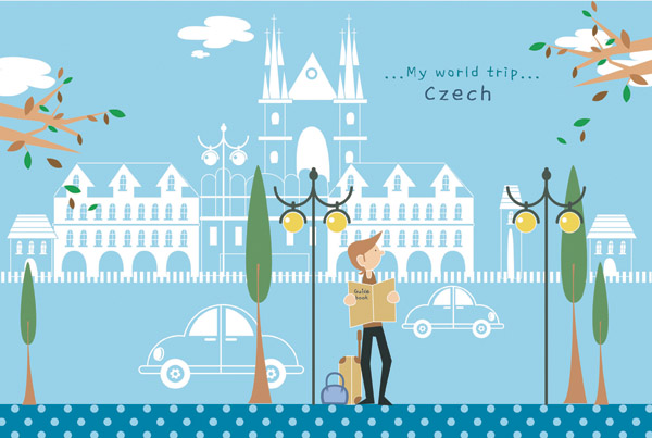free vector Travel illustrator vector cute