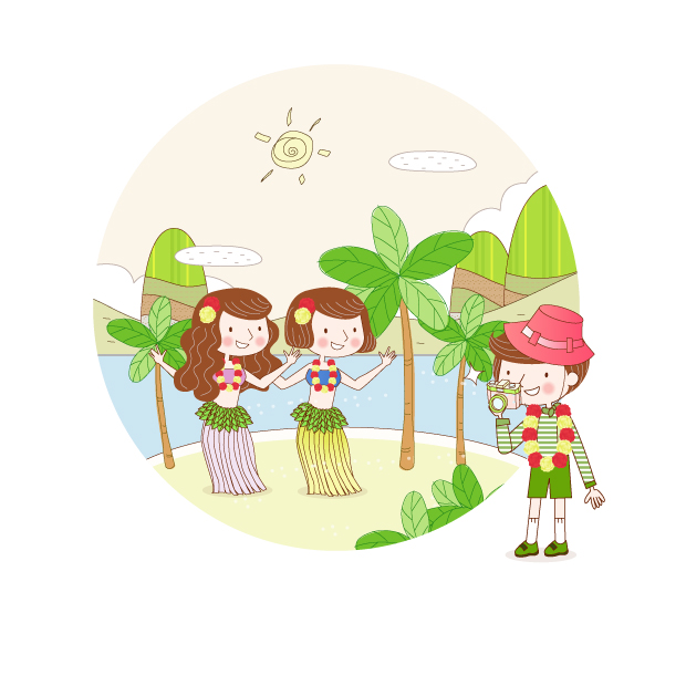 free vector Travel theme vector fantasy children drawings