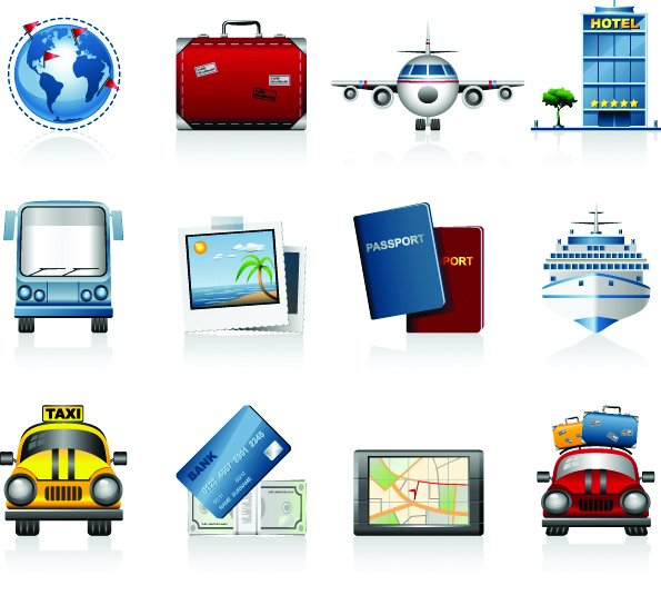 free vector Travel travel icon vector