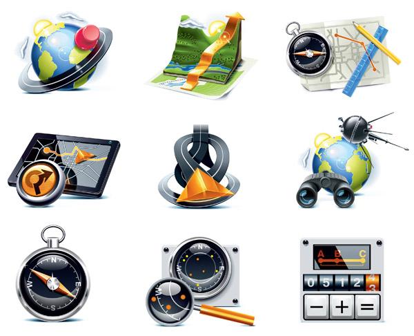 free vector Travelers theme icon vector