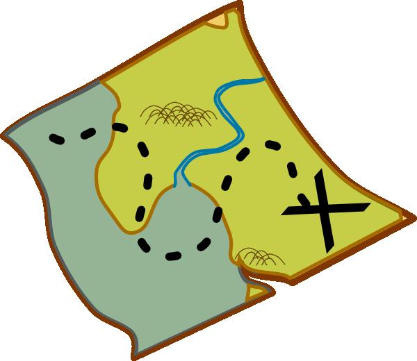 free vector Treasure Map clip art