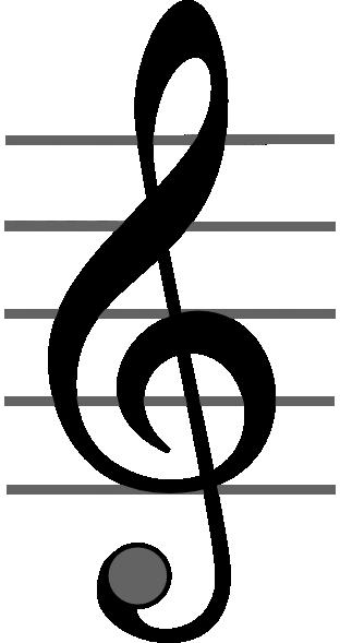 free vector Treble Clef clip art