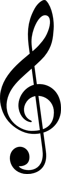 free vector Treble Clef Without Line clip art