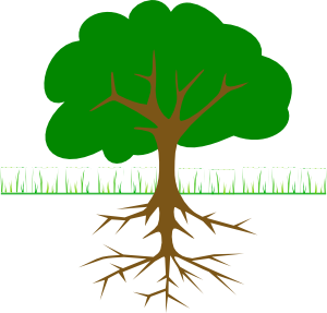 tree branches and roots clip art free vector 4vector rh 4vector com family tree with roots clipart tree with roots clipart png