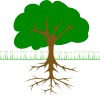 free vector Tree Branches And Roots clip art