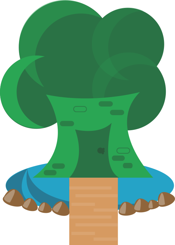 free vector Tree house