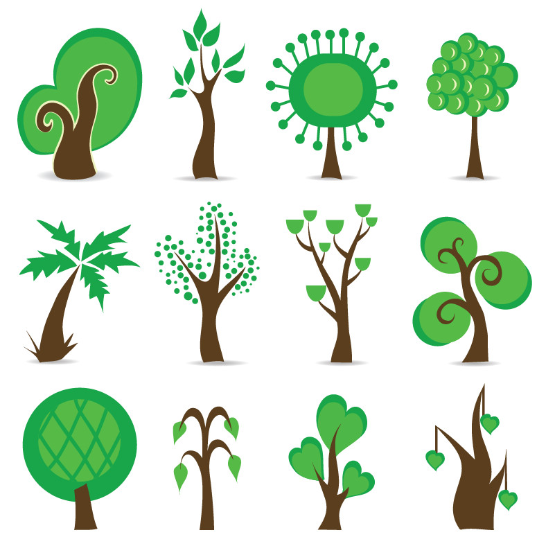 free vector Tree Symbols Vector Graphic