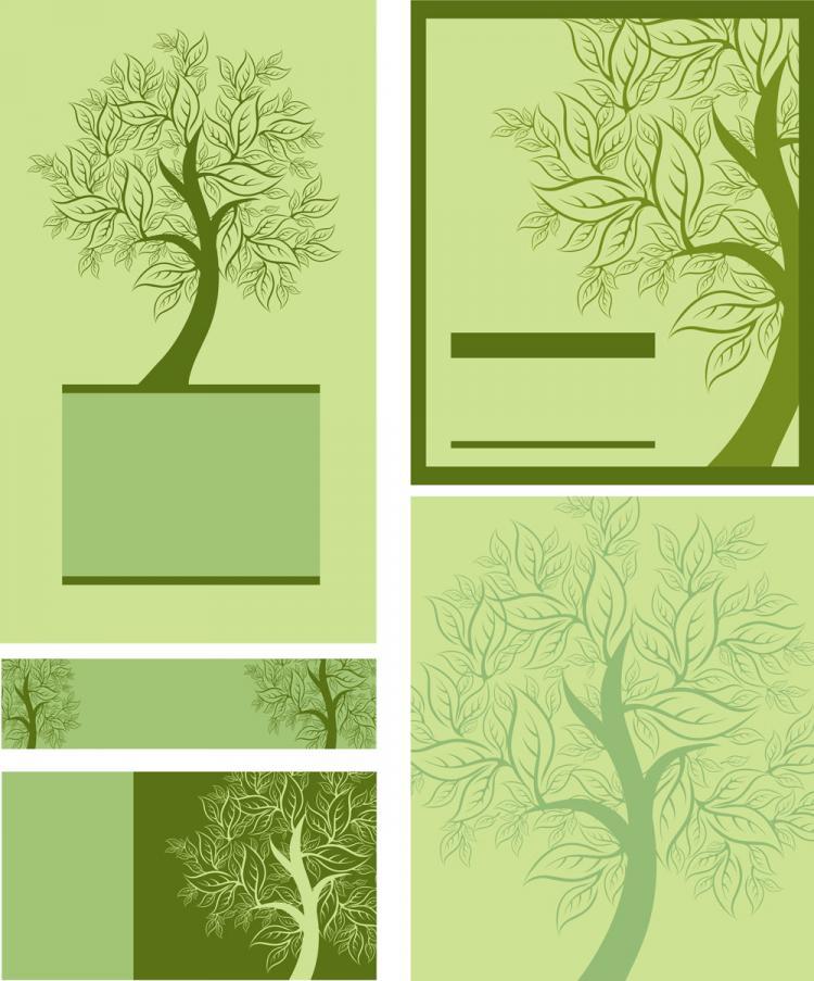 free vector Tree template 01 vector