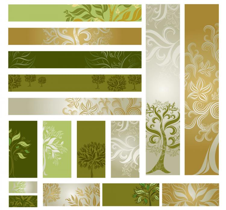 free vector Tree template 02 vector
