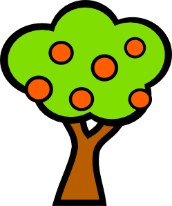 free vector Tree With Fruits clip art