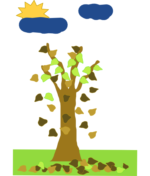 free vector Tree With Leaves Falling clip art