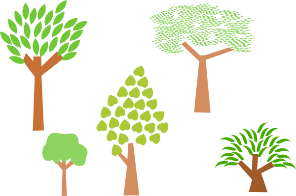 free vector Trees clip art
