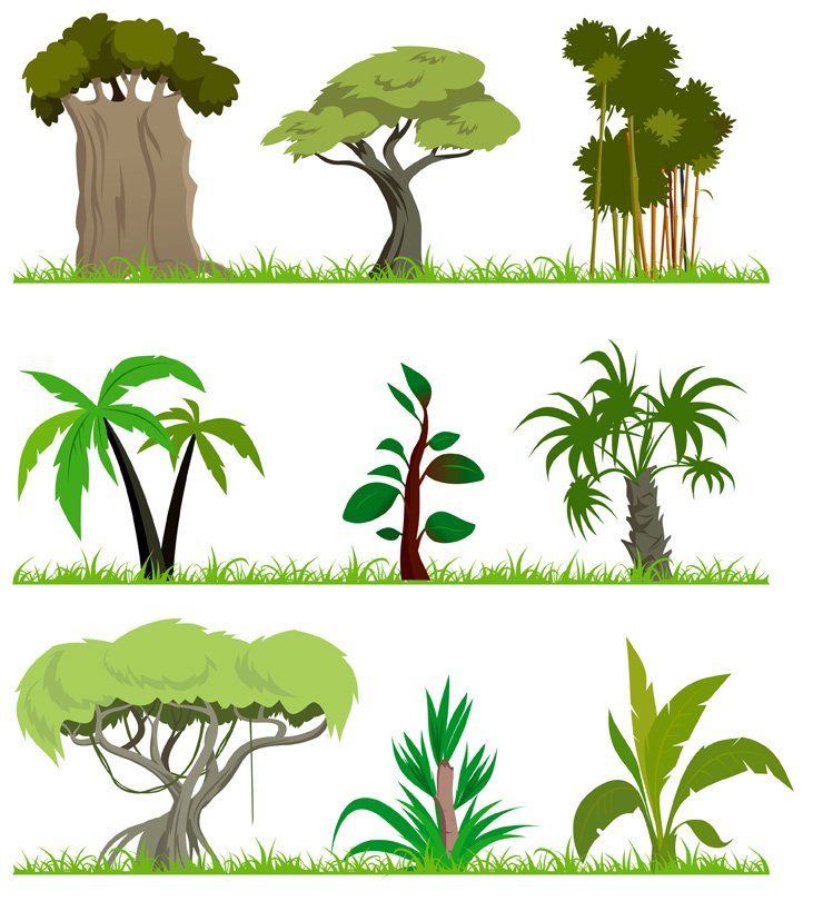 free vector Trees theme vector