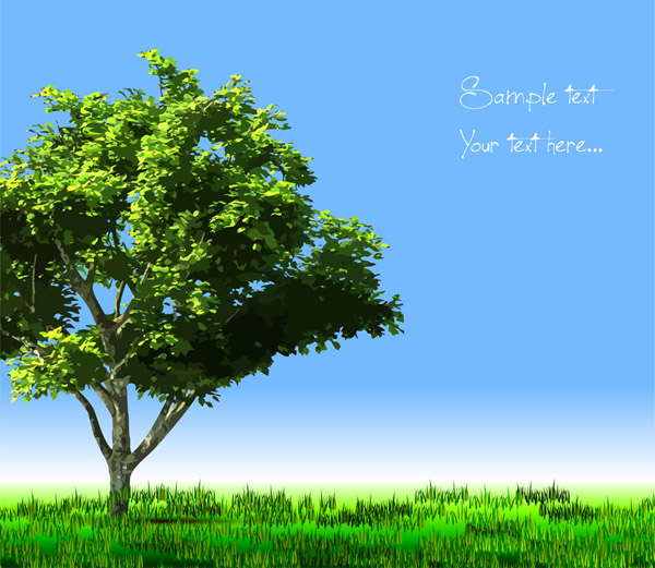 free vector Trees vector 2