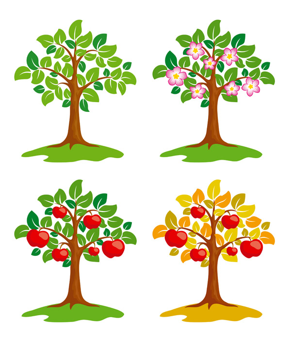 free vector Trees vector illustrations