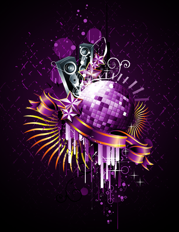 free vector Trend element vector 1 disco