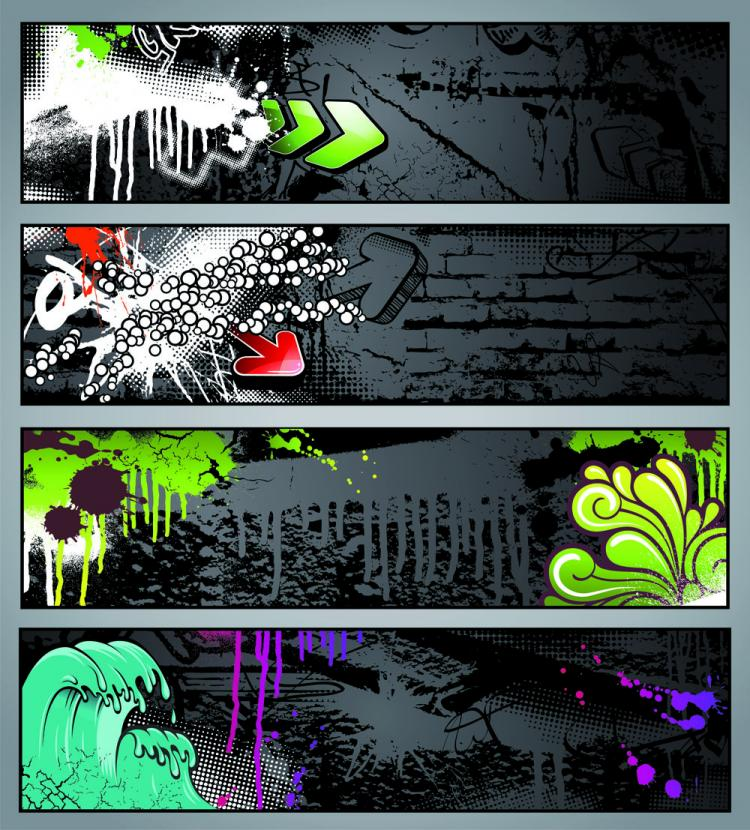 free vector Trend of graffiti vector