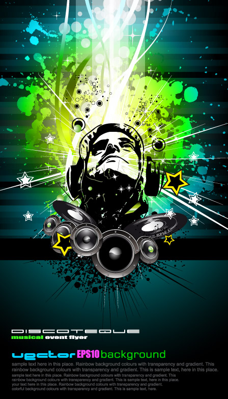free vector Trend of music posters vector